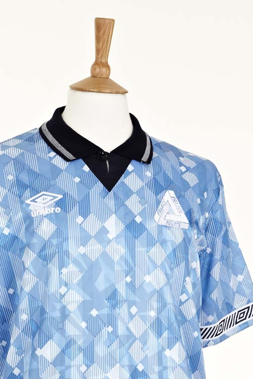 Palace Skateboards X Umbro Blue Shirt