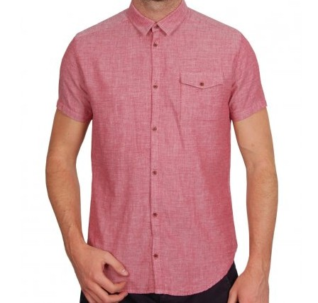 Suit Red Short Sleeved Shirt