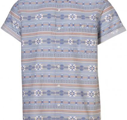 Topman Aztec Blue Shirt