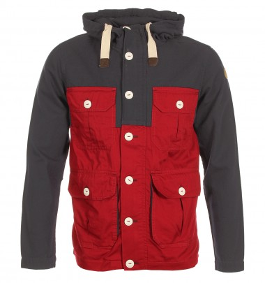 Two Stoned Canvas Red Jacket