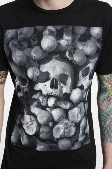 Urban Outfitters Black Skull T Shirt