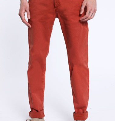 Urban Outfitters Red Velour Chinos