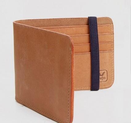Veja Tan Leather Wallet