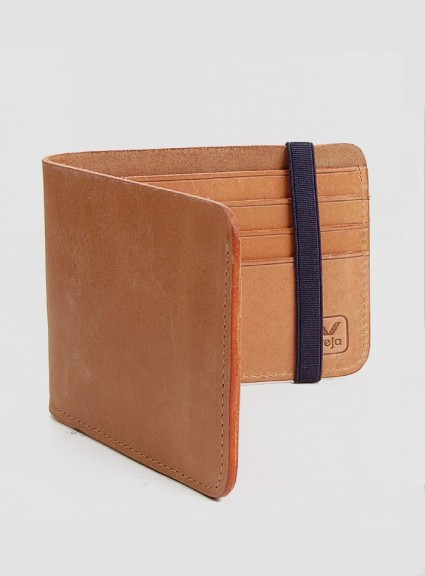 Veja Tan Leather Wallet