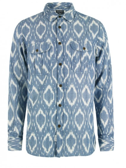 Woolrich Mens Ikat Military Shirt