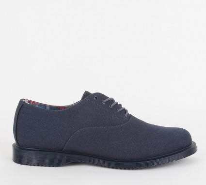 Dr. Martens Navy Canvas Shoes