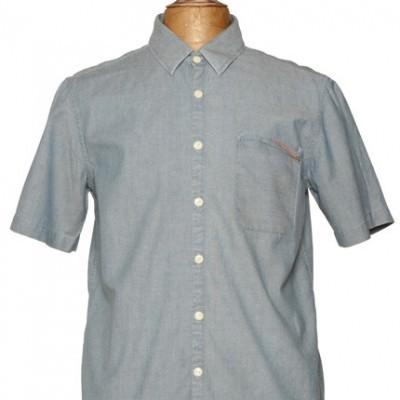Edwin Denim Short Sleeved dobbin Shirt