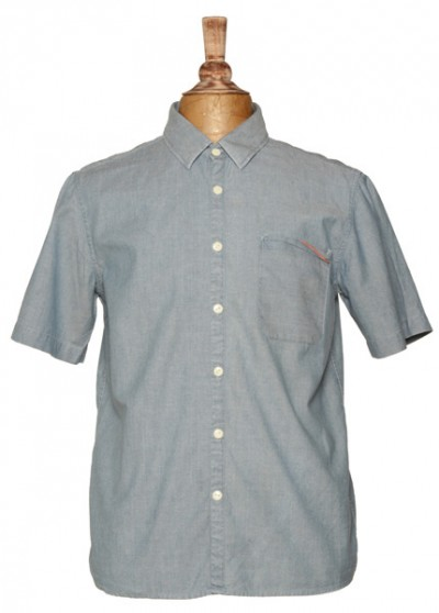 Edwin Denim Short Sleeved dobbin Shirt