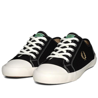 Fred Perry Black Canvass Shoe