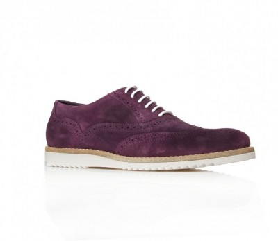 Kurt Geiger Purple Suede Brogue Shoes