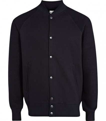 Reiss Black Baseball Jacket