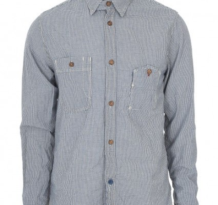 Scotch and Soda Worker Blue Gingham Shirt