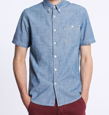 Shore Leave Short Sleeved Denim Shirt