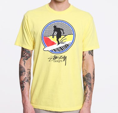 Stussy Yellow Surf Pop T Shirt