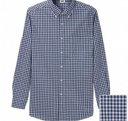 Uniqlo Gingham Blue Shirt