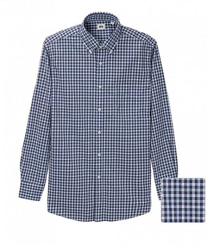 Uniqlo Gingham Blue Shirt