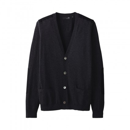 Uniqlo UU Cotton Dark Grey Cardigan
