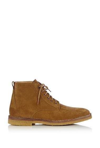 APC tan suede desert boots