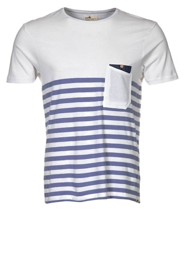 Boxfresh white and blue stripe T Shirt
