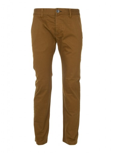Dr Denim ochre yellow cotton chinos