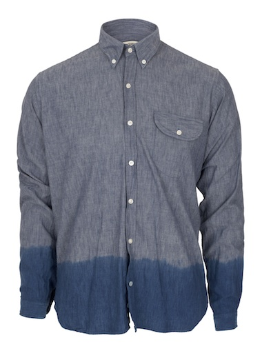 Oliver Spencer Dip Dye Denim Mens Shirt