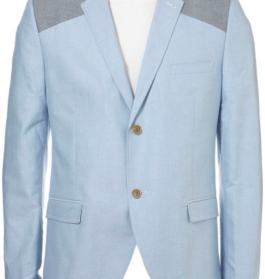 Topman Oxford Blue Slim Blazer