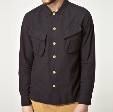 YMC Black Military Two Pocket Shirt