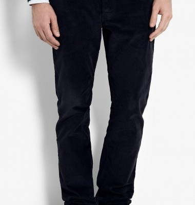 Fahri by Nicole Fahri navy straight cord mens jeans