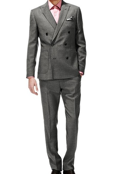 Reiss Grey Latchman Double Breasted Suit